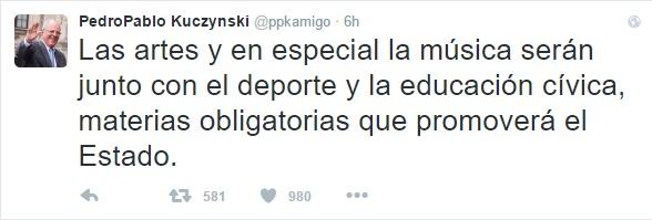 El presidente reiteró su compromiso a través de su cuenta de Twitter.
