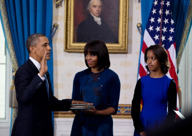 Cada nuevo presidente escoge el libro ante el que va a juramentar su cargo.