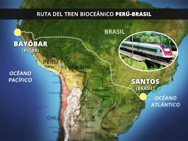 Kuczynski y Morales hablan hoy del Tren Bioceánico que uniría Bayóvar con Brasil