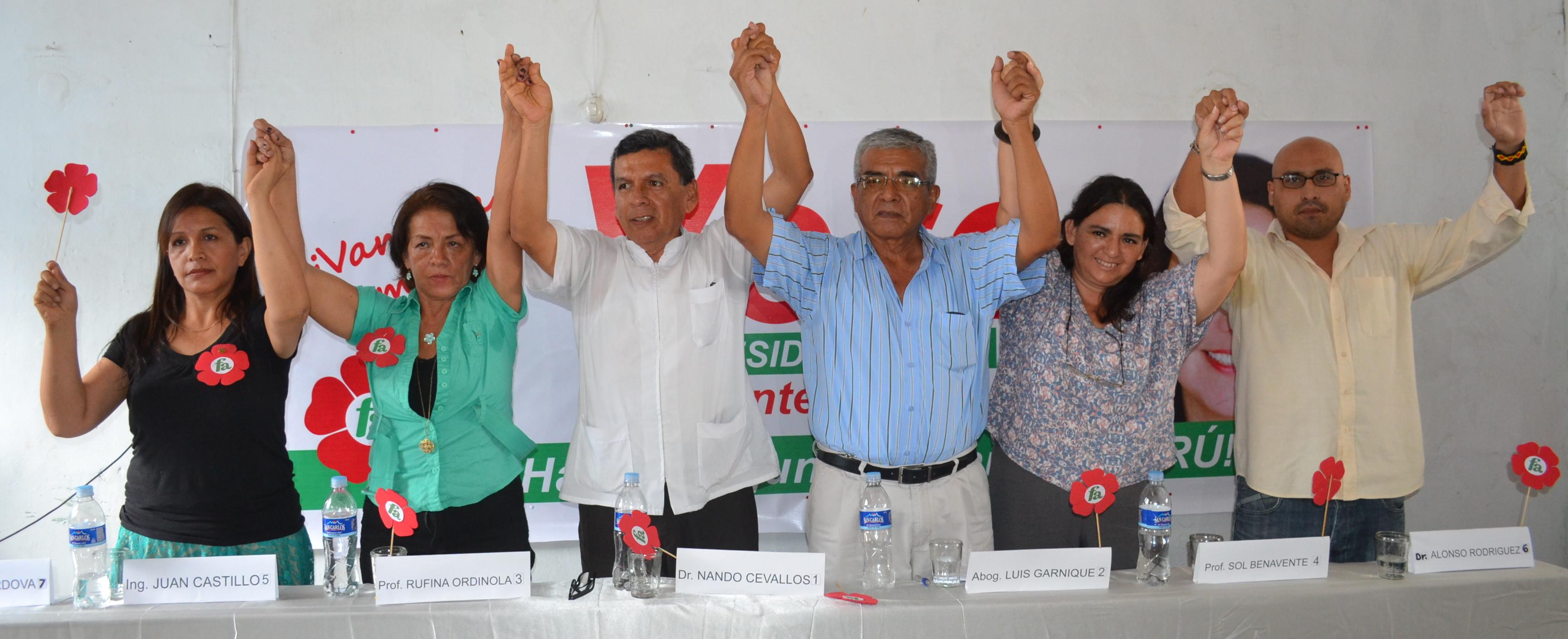 Frente Amplio: candidatos al congreso por Piura.