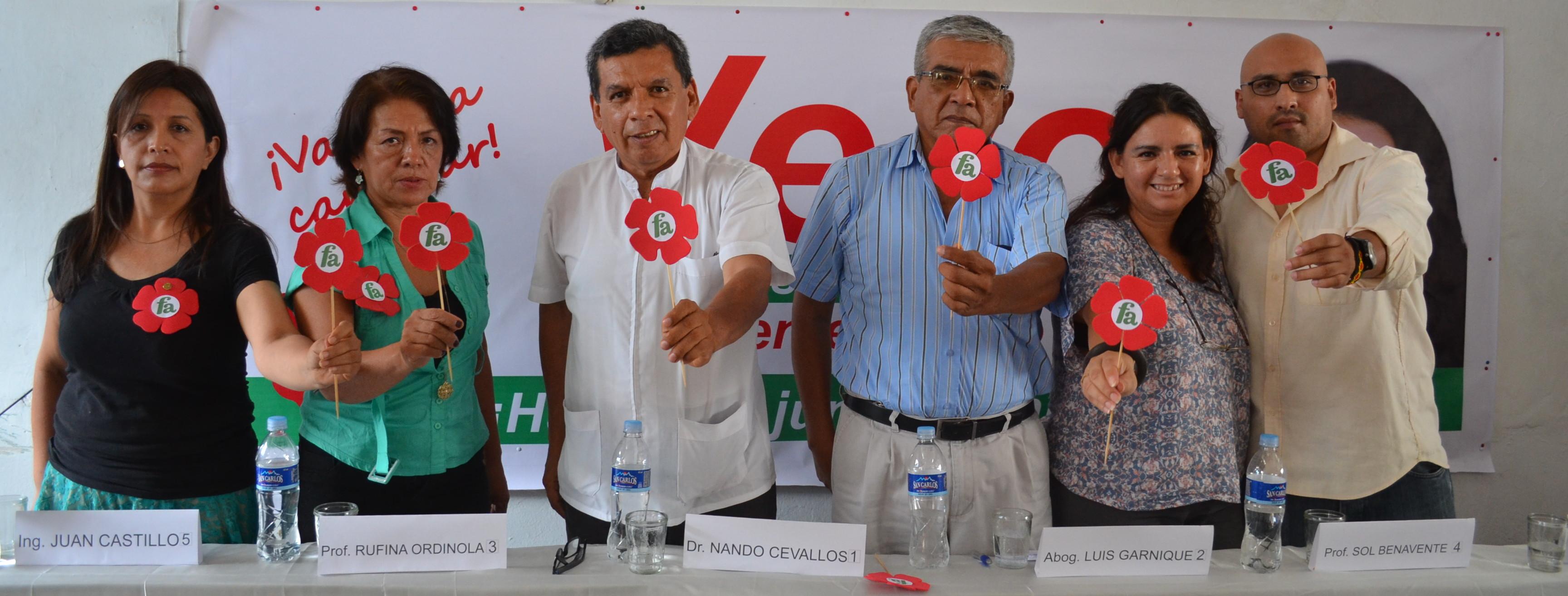 Frente Amplio: candidatos al congreso por Piura