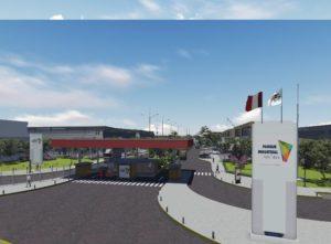 Así lucirá la entrada del parque industrial. Por ahora se están construyendo los accesos. Foto: Colliers International.