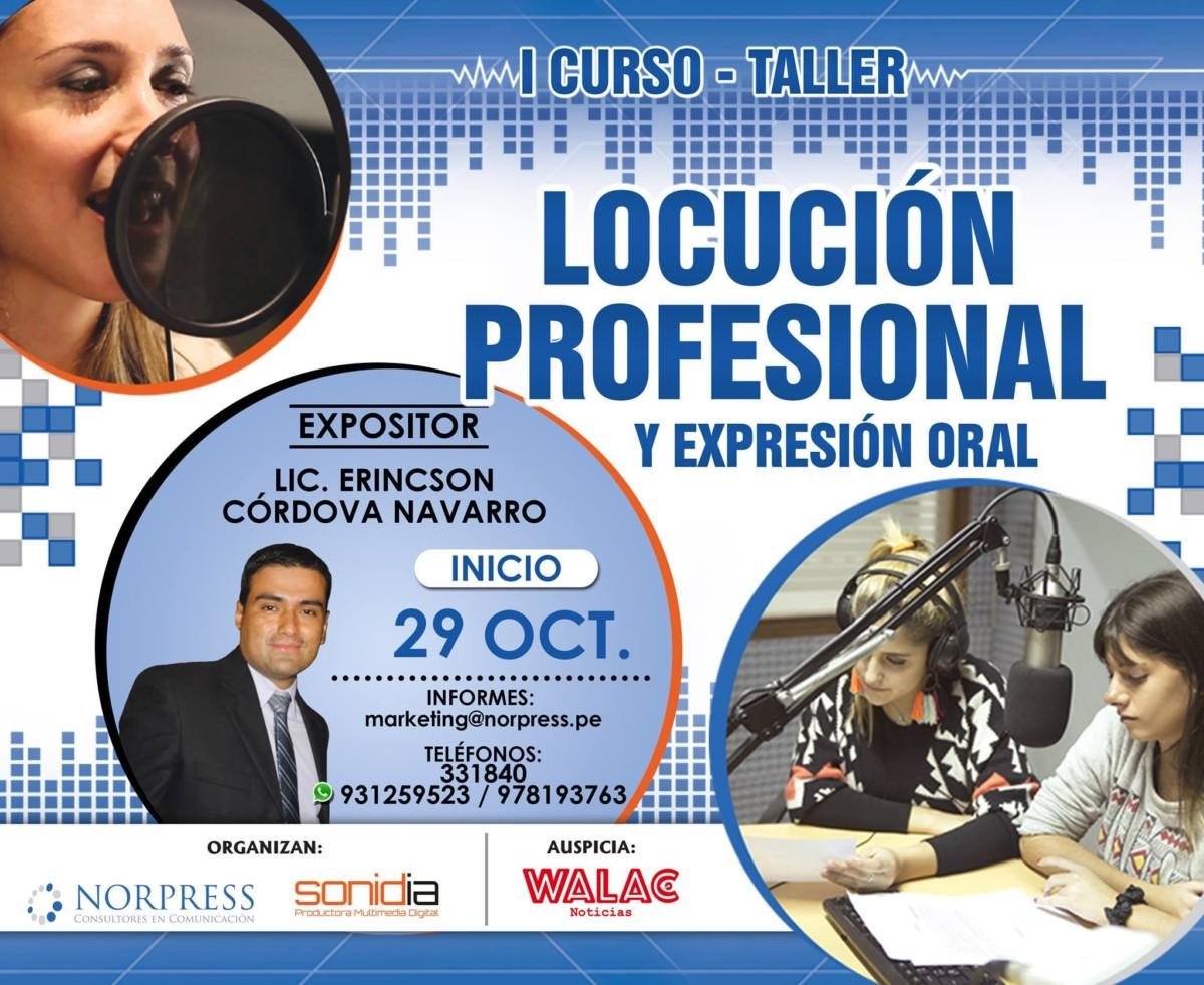 """""""Norpress"""" Consultores en Comunicación, y """"Sonidia"""" Productora Multimedia Digital, organizan el Primer Curso-Taller de Locución y Expresión Oral 2016"""