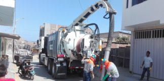 """Se inicia programa nacional """"Operación Alcantarillado"""" en Piura. Hidrojets realizarán la descolmatación de 150 Km de desagüe, gracias a un trabajo articulado entre el MVCS, OTASS y EPS Grau."""