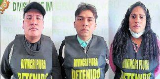 tres presuntos extorsionadores