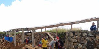 Realizan trabajos de mantenimiento del Complejo Arqueológico Aypate
