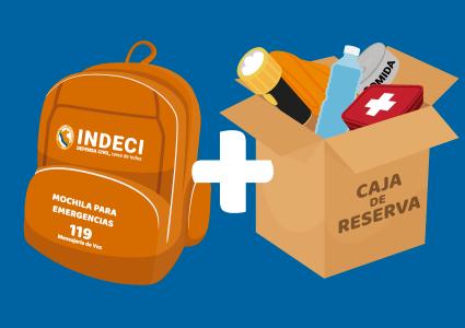 mochila de emergencia y caja de reserva