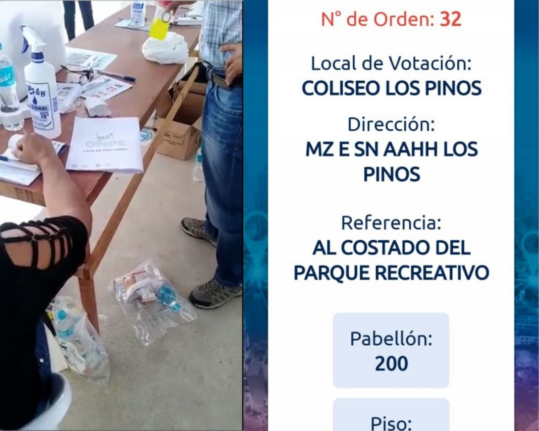 Denuncian suplantación de identidad en local de votación de Piura