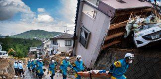 Lluvias torrenciales dejan 2 muertos y más de 20 desaparecidos en Japón