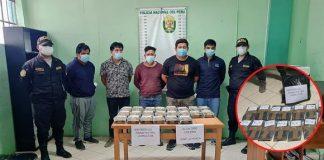 Detienen a cinco personas que trasladaban droga en vehículo, en Paita