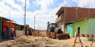 Paita: obra de agua potable y alcantarillado presenta un avance del 20%