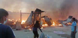 Incendio consume alrededor de 20 casas en A. H. Nuevo Amanecer, VDO