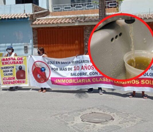 Vecinos de la Urb. Santa Margarita denuncian que el agua que reciben no sería para consumo humano