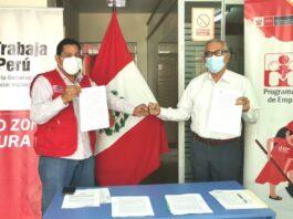 """Firman convenio con """"Trabaja Perú"""" para el beneficio de ciudadanos de Tambogrande"""