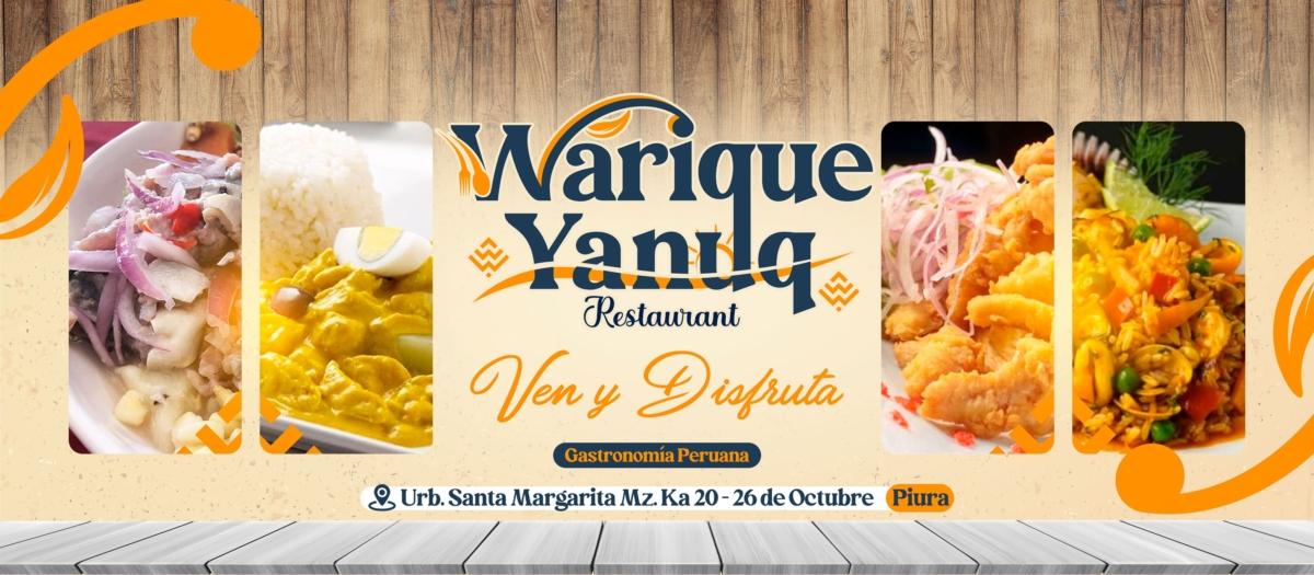 Warique Yanuq: una tradición gastronómica de platillos peruanos